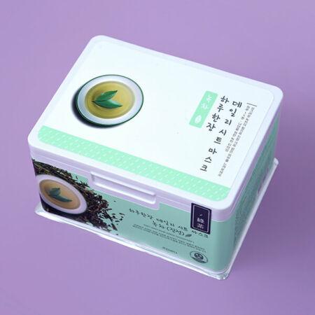 Nyugtató Zöld Teás Fátyolmaszk Mindennapra 350g/33db