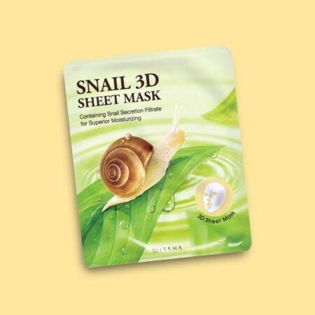 Snail 3D Fátyolmaszk