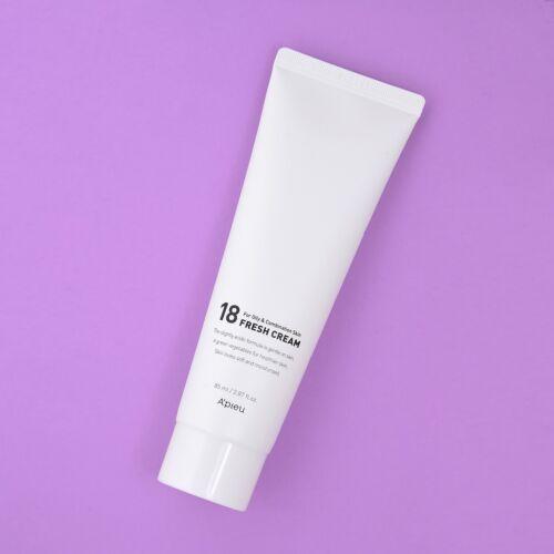 A koreai A'pieu 18 Moisture Cream zsíros és kombinált bőrtípusra összetevői révén helyreállítja a bőr optimiális pH-értékét, hogy megfelelően tudjon védekezni a külső környezeti behatásokkal és baktériumokkal szemben.