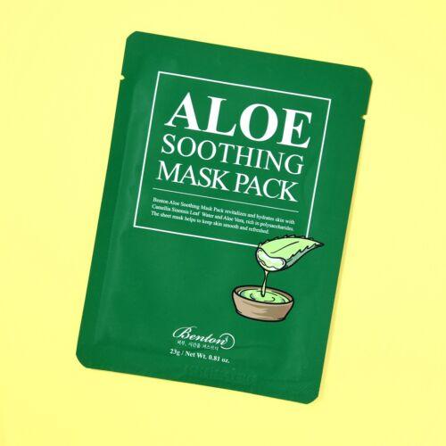 A koreai Benton Aloe Soothing Mask Pack fátyolmaszkja 48% aloe vera kivonattal készült, hogy azonnal és intenzíven nyugtassa és hidratálja a szükségben lévő bőrt.